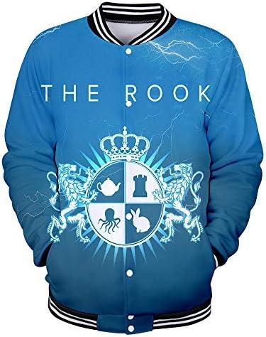 TEEEEL TV-Spiel The Rook 3D Farbe gedruckt Baseballuniformen Mantel für Männer und Frauen F The Style XS