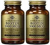 Cheap Solgar – Biotin 5000 mcg, 100 Vegetable Capsules, 2 Pack – Supports Healthy Skin, Nails and Hair