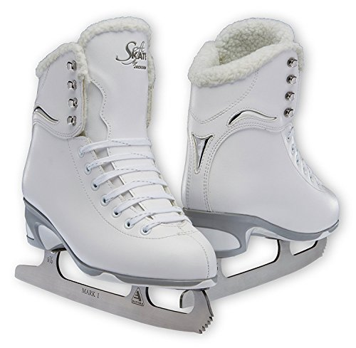 Jackson JS 180 SoftSkate Adult Figure Ice Skates (Fleece, 6)