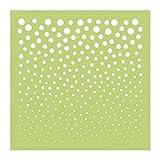 Kaisercraft IT904 Designer Template, 12'' x 12'', Finder's Keepers Fading Dots, Green