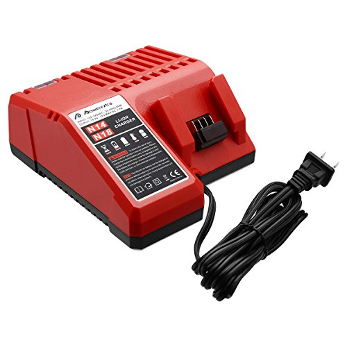 Powerextra M18 Lithium-ion Battery Charger Compatible with Milwaukee M18 48-11-1815 M18 Charger