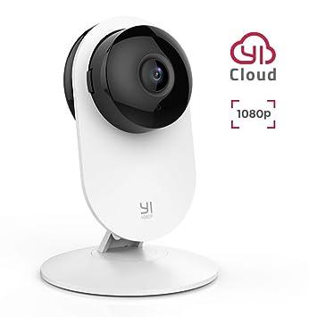 YI Cámara Vigilancia, Cámara IP Wifi 1080p Sistema de Seguridad de Full HD, Detección de Movimiento, Visión Nocturna, Audio de 2 Vias y Nube con App ...