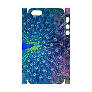 D-PAFD Cell phone Protection Cover 3D Case Peacock For Iphone 5,5S