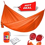 NEW hammock has unique parameters - proven dynamic load up to 990 pounds, recommended maximum load - 350 pounds. This is a great camping equipment, which is able to accommodate any person and not just one. Your children will no longer need to quarrel...