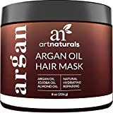 ArtNaturals Argan Oil Hair Mask - (8 Oz/226g) - Deep Conditioner - 100% Organic Jojoba Oil, Aloe Vera & Keratin - Repair Dry, Damaged Or Color Treated Hair After Shampoo - Sulfate Free