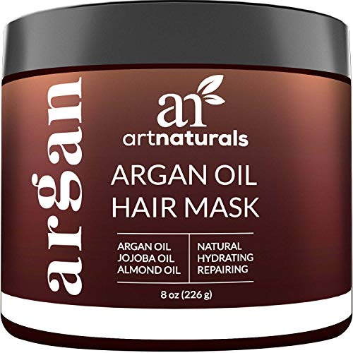 ArtNaturals Argan Oil Hair Mask - (8 Oz/226g) - Deep Conditioner - 100% Organic Jojoba Oil, Aloe Vera & Keratin - Repair Dry, Damaged Or Color Treated Hair After Shampoo - Sulfate Free - Natural Deep Conditioning Hair