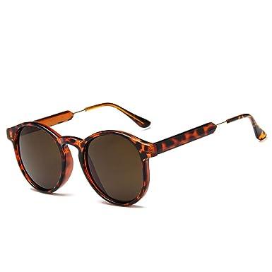 YLYZJH Gafas de sol redondas Mujer Hombre Diseño de Marca ...