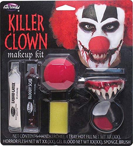 It The Clown Halloween Makeup (Killer Clown Makeup Kit Costume)