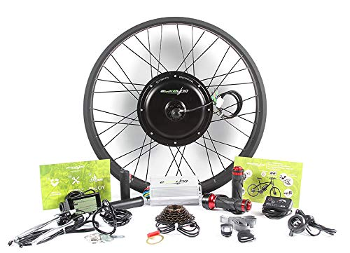 EBIKELING 48V 1200W Direct Drive Motor Fat Front Rear Wheel 26 e-Bike Conversion Kit Electric Bicycle