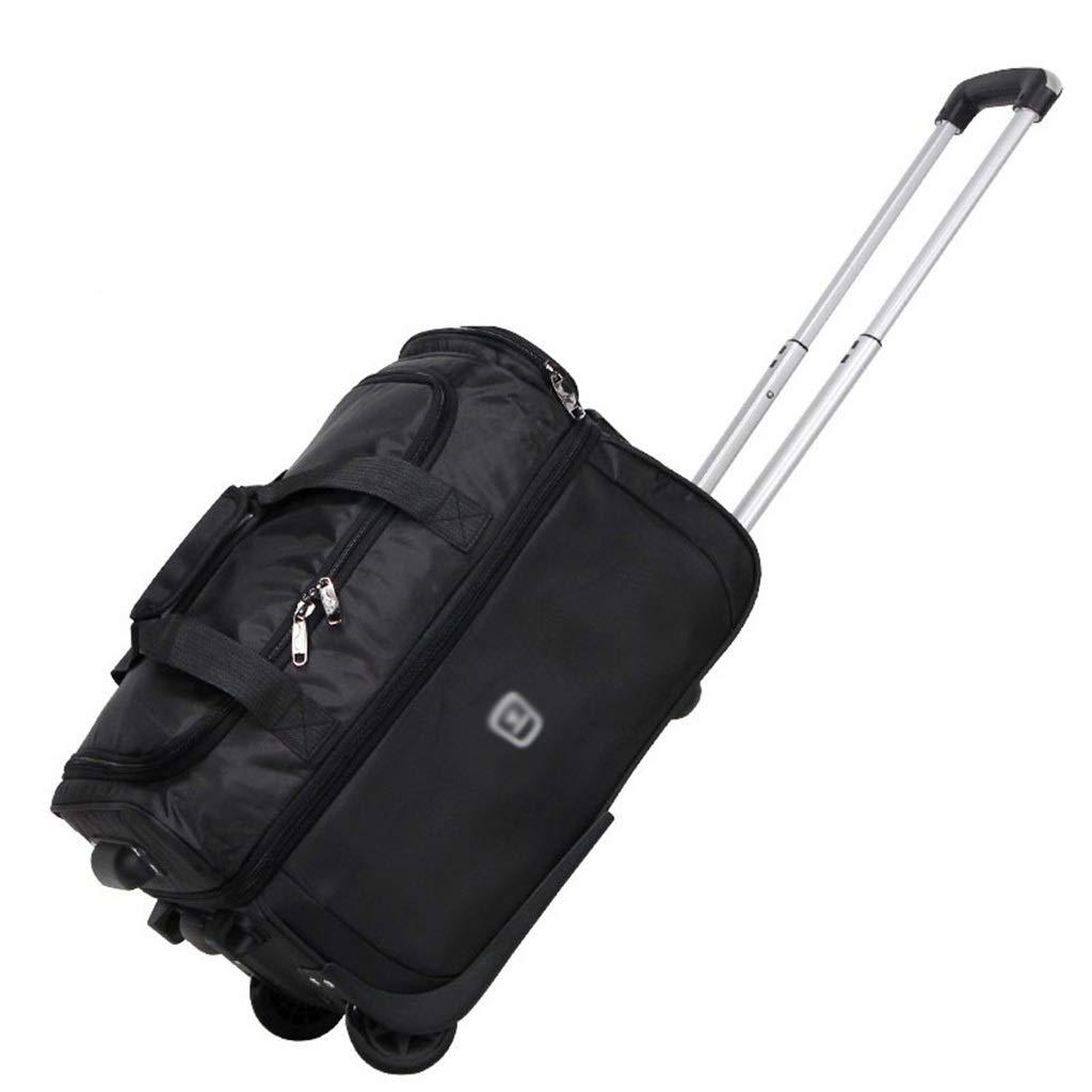 高容量のトロリー袋、出張のトロリー箱の折り畳み式の拡張可能な荷物袋の動かされた荷物 (Color : Black, Size : 47*33*31cm) B07SKJW419 Black 47*33*31cm