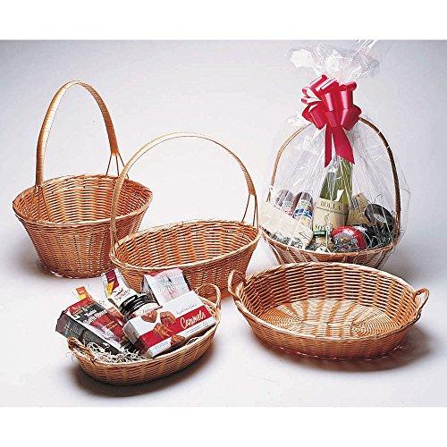 """Oval Wicker Basket with Handle - 14 1/2""""L x 11""""W x 3""""H"""