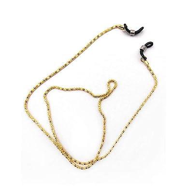 1471cec89acd14 Oyamihin Lunettes en métal Cordes Lunettes de lecture Sangle de retenue  Sangle anti-glissière Porte