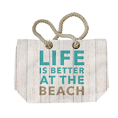 Unbekannt , Borsa da spiaggia  multicolore weiß, türkis, grau