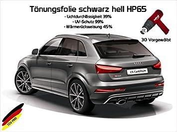 hellschwarz HP 65 Lichtdurchl/ässigkeit 35/% W/ärmer/ückweisung 45/% 3 D T/önungsfolie passgenau vorgew/ölbt kompatibel mit BMW 5er E61 Touring Bj 05//04-08//10