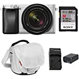 Sony a6300 Mirrorless Camera with 18-135mm Lens with LCD, 3, Silver Essentials Bundle