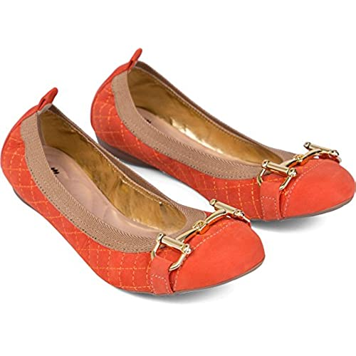 high quality Women's ballet flat shoes round toe with 18k