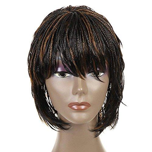 Synthetic Small Box Braid Wigs African American Bob Braided Wigs 12 (#1B/27)