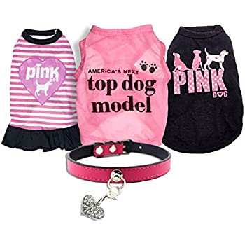 Amazon.com : Ollypet Set of 5 Bulk Dog Clothes Dress Shirt