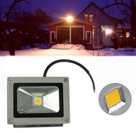 BEIYI Proyector para exterior impermeable IP65 LED luz blanca ...