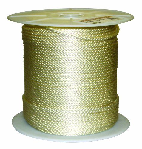 - Rope King SBN-141000 Solid Braided Nylon Rope 1/4 inch x 1,000 feet