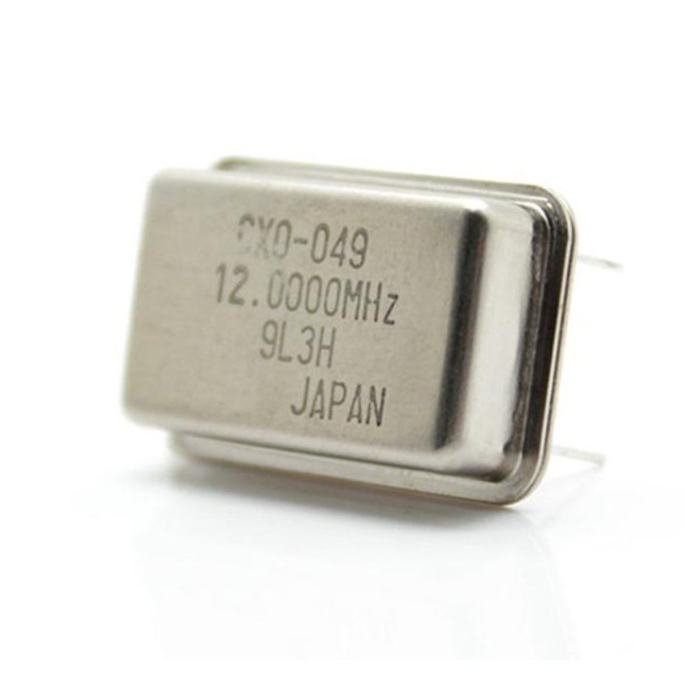 Quartz Crystal Oscillator 12MHz for Microprocessor Microcontroller Precision Frequency Timing Clock Signals Time Tracking with 4 Pins Through Hole Mounting Type from Optimus Electric