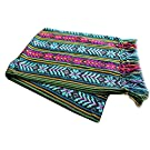 Del Mex Mexican Rebozo Shawl Blanket Doula (X-large (9 ft x 5 ft), Black)