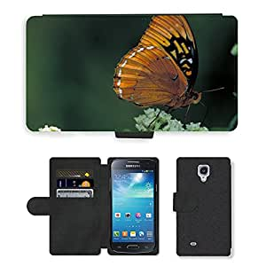 Hot Style Cell Phone Card Slot PU Leather Wallet Case // M00114694 Butterfly Male Diana Fritillary // Samsung Galaxy S4 Mini i9190