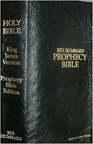 Rex Humbard Prophecy Bible KJV 1979 Red Letter Edition Black Leather Cover