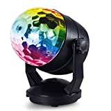 Hompie Portable Party Lights, Disco Ball Light, DJ Light Sound Activated Strobe Light 5W RGB 7 Colors Battery Powered/USB Plug-in Stage Lights with Suction Cup for Parties, Wedding, Chrismas, Karaoke