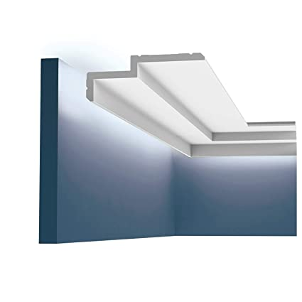 Cornisa Orac Decor C391 MODERN STEPS Moldura para luz indirecta Moldura para decoración de pared y