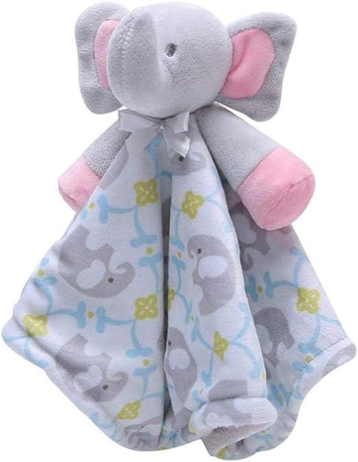 Plush Stuff Toy Elephant Comforter Comfort Blanket Teddy New Born  Baby Boy Gift