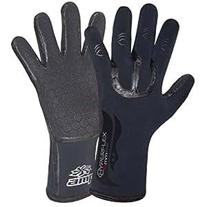 Hyperflex Wetsuits Men's 5mm Amp Glove, Black, Small - Surfing, Windsurfing & Wakeboarding
