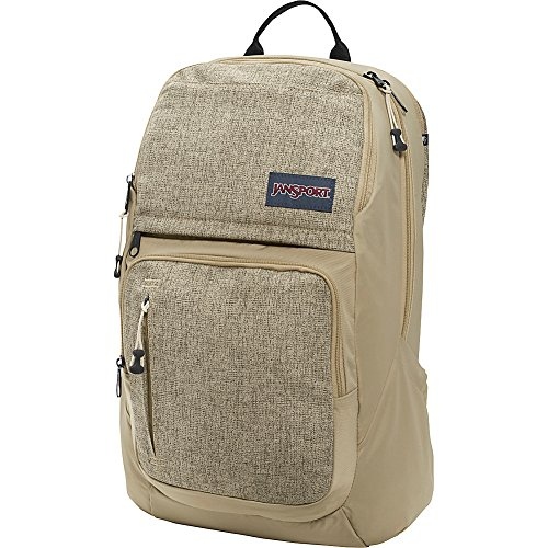 JanSport Broadband Laptop Backpack (Desert Beige Static) (Oversized Jansport Backpack)