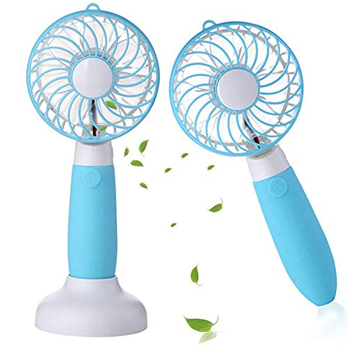 Allkeys Personal Handheld Fan, Battery Operated Mini Fan Portable Rechargeable USB with 3 Speeds for Home Office Outdoors Travel -