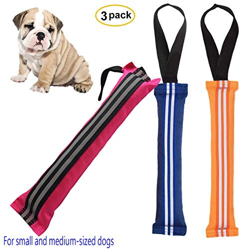 Adusa Floating Dog Toys, Durable Pool Toys for Dogs Chew Tug Toy with Handle Training and Hunting, Fetch Retrieving Toys for Small Dogs Outdoor Indoor Playing 3 Pack ()