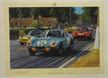 Daytona Cobra Coupe Racing Print Autographed By Bob Bondurant
