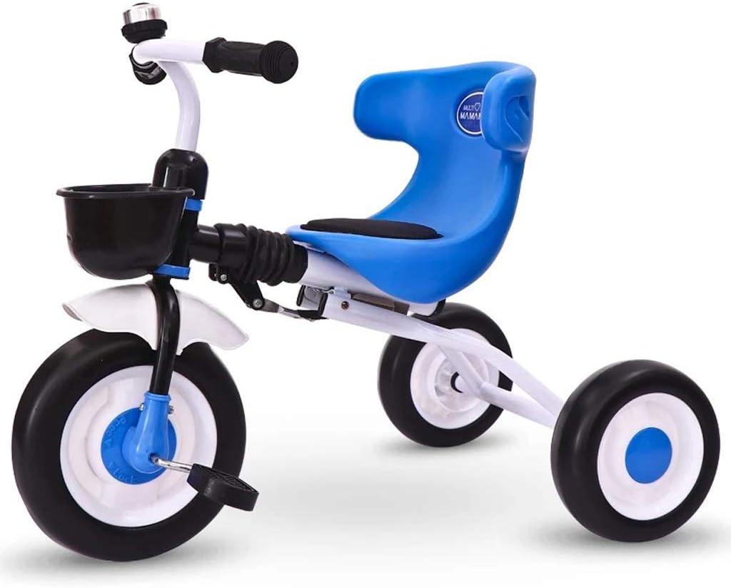 YXY幼年期三輪車 三輪車 子供用自転車 軽量トロリー 1-3-6歳のベビー自転車 ファッションベビーカー (Color : Blue)