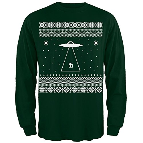 Alien Beam Ugly Christmas Sweater