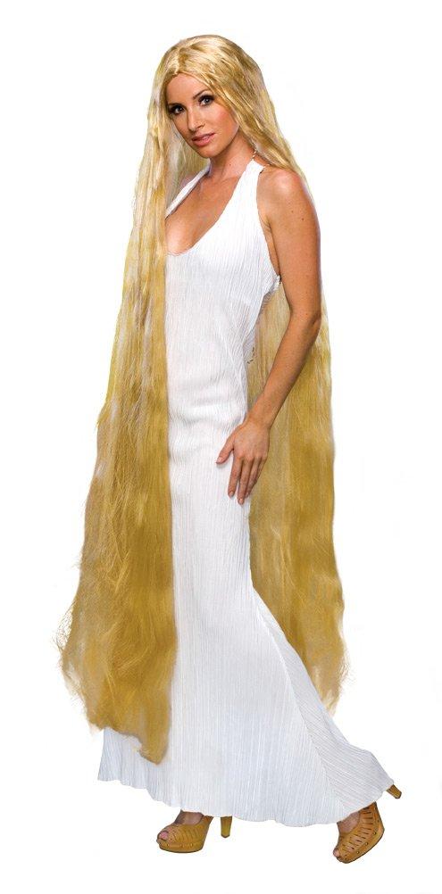 Rubie's 60-Inch Lady Godiva Blonde Wig, Yellow, One Size