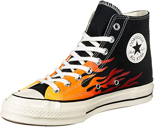Converse Men's Chuck Taylor All Star '70s High Top Sneakers, Black Flame, 8.5 Medium US