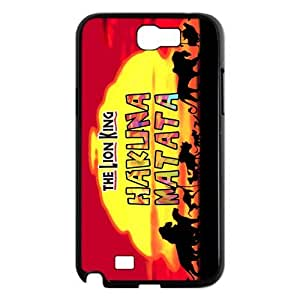 luckhappy store Custom The lion king with Hakuna Matata black plastic Case for Samsung Galaxy Note 2 N7100 cover