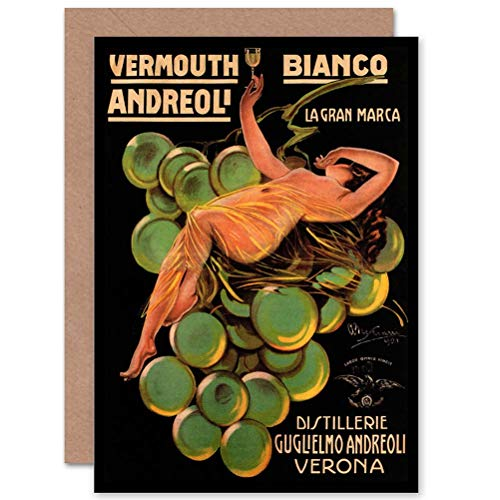 Wee Blue Coo Vermouth ANDREOLI Verona Italy Advertising Retro Greetings - Vermouth Italy