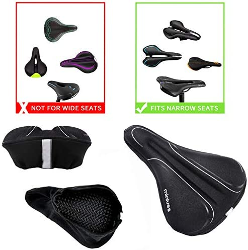 Enoqunt Custom Seat Cover Books in Library Bookcase Bike Seat Rain Covers Bicycle Saddle Cover Waterproof for Most of Bike Saddles