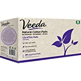 Veeda Ultra Thin Pads with Wings, Natural Cotton, Hypoallergenic, Unscented 84 Count