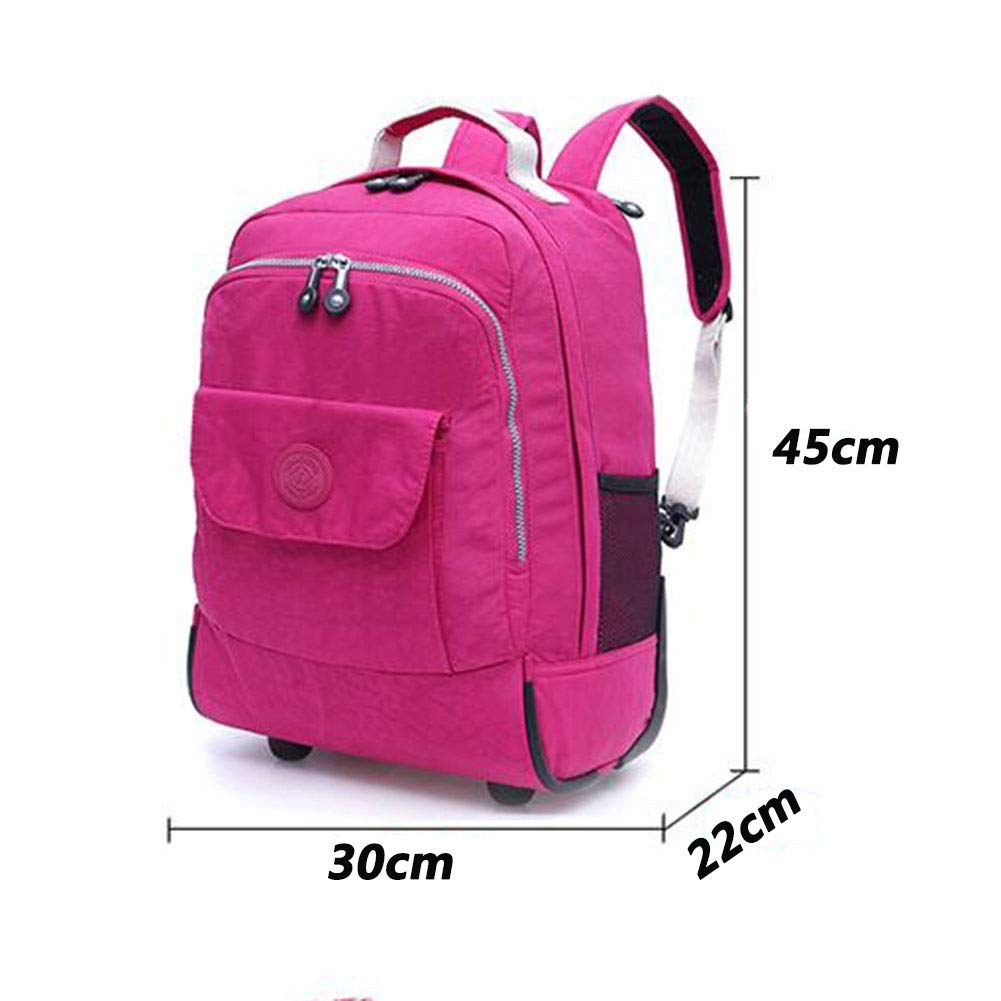 QY Trolley Backpack Small Pulley Backpack Multifunction Back Korah Dual Use Trunk Ultralight Travel Canvas Bag QY Bags, Cases & Sleeves Laptop Accessories Color : Black, Size : 30x22x45cm