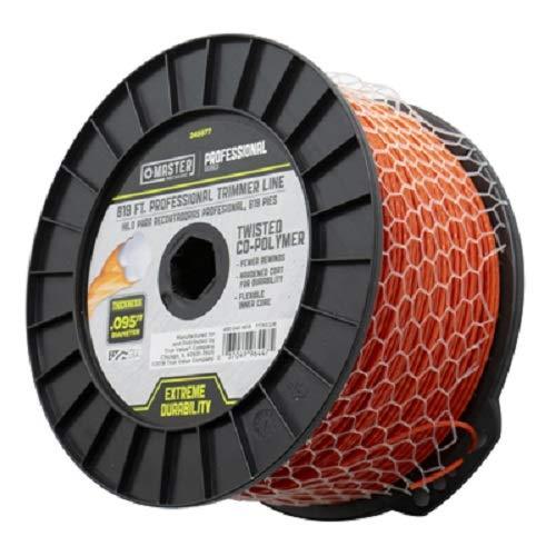 Master Mechanic 490-040-9019 819' ft x .095 Orange Line Trimmer Line - Quanity 3 Spools