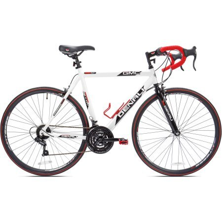Kent 25'' 700c GMC Denali Men's Bike | Promax 501A Alloy Caliper Brake, White/Red by KentProducts.