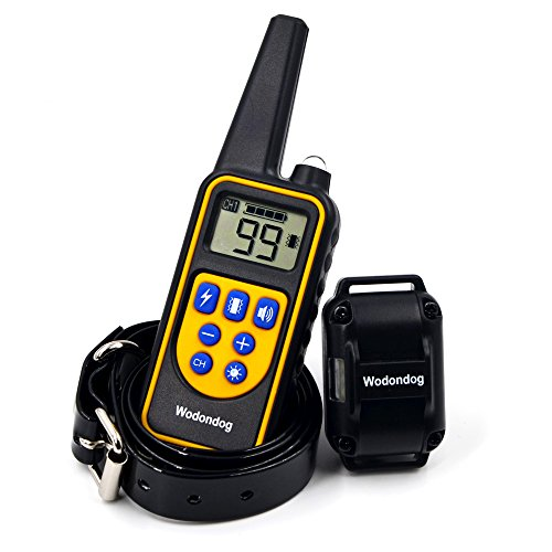 30%OFF Wodondog Dog Training Collar Rechargeable and IPX7 Waterproof 870yards Remote Dog Shock Collar with Beep Vibration and Shock Electric Collar for All Size Dogs