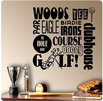 Amazoncom Golfing Golf Sayings Wall Decal Sticker Art Mural Home