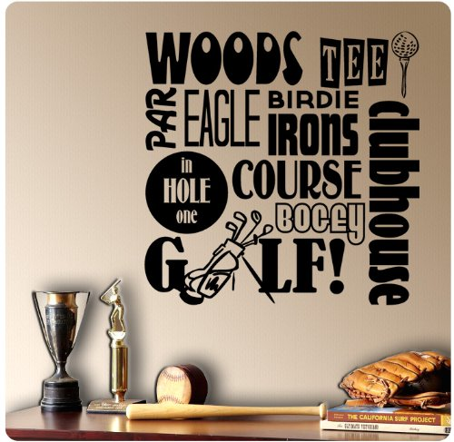 Golfing Sayings Decal Sticker Mural product image